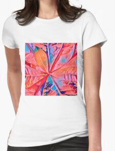 Rubber Plant Abstracted Womens Fitted T-Shirt
