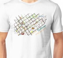 Downtown Billings Brewery Map Unisex T-Shirt