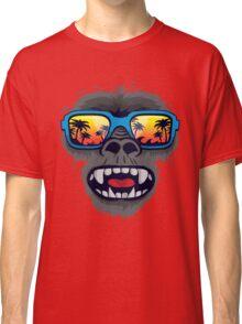 Gorilla monkey with tropical sunglasses Classic T-Shirt
