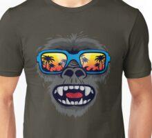 Gorilla monkey with tropical sunglasses Unisex T-Shirt
