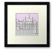 Peacock at The Pavilion Framed Print