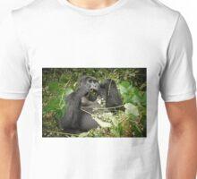 eating mountain gorilla, Uganda Unisex T-Shirt