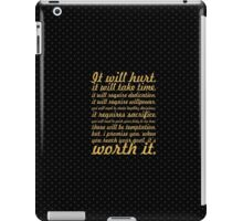 It will hurt... Gym Motivational Quote iPad Case/Skin