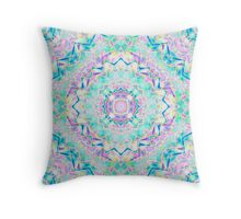 Gentle colors of the ornament . Turquoise -pink . Throw Pillow
