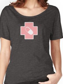 Menhera Pastel Cross with Capsule Women's Relaxed Fit T-Shirt