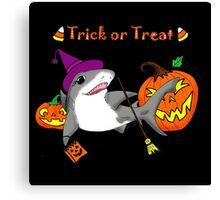 Trick or Treat Shark Canvas Print