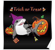 Trick or Treat Shark Poster