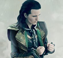 Loki in chains by fahrlight