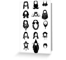 The Bearded Company Black and White Greeting Card