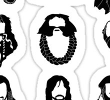 The Bearded Company Black and White Sticker