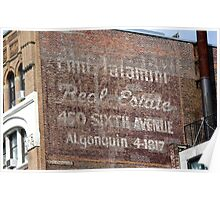 New York City:  Real Estate Ghost Sign Poster
