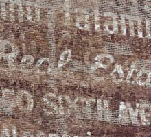 New York City:  Real Estate Ghost Sign Sticker