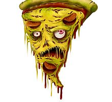 _zombie pizza by karincoma
