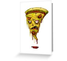 _zombie pizza Greeting Card