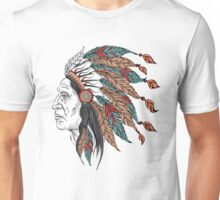 Man in the Native American Indian chief Unisex T-Shirt