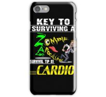 Funny Zombie Cardio Survival Tip Halloween T-shirt iPhone Case/Skin