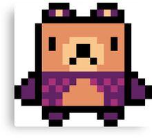 Pixel Classic Bear Canvas Print