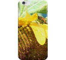 Honey bee on Sunflower iPhone Case/Skin