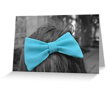 The Blue Bow Greeting Card
