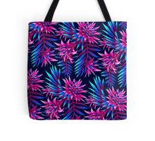 Fasciata Tropical Floral - Dark Blue/Pink Tote Bag