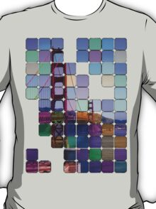 Golden Gate Bridge Modern Art T-Shirt