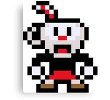Pixel Cuphead Canvas Print