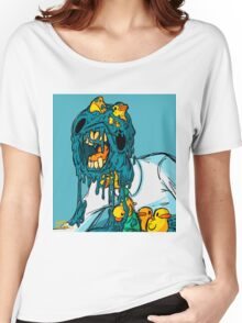blue melting man with some rubber ducks Women's Relaxed Fit T-Shirt