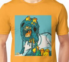 blue melting man with some rubber ducks Unisex T-Shirt