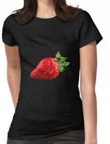 Oil Pastel Strawberry Womens Fitted T-Shirt