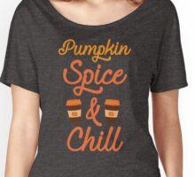 Pumpkin Spice & Chill Women's Relaxed Fit T-Shirt