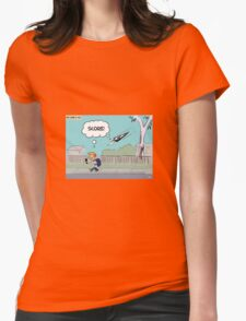 Pie-Come & Go! Womens Fitted T-Shirt