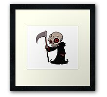 Cartoon Halloween Character - Death Framed Print