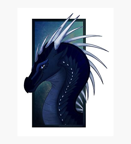 Wings of Fire - Whiteout Headshot Photographic Print