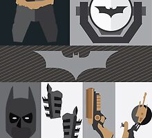 Batman Equipments and Gadgets by toughandtender