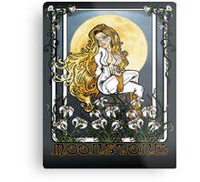Moonstone Nouveau Metal Print