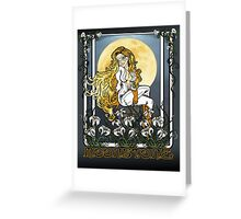 Moonstone Nouveau Greeting Card