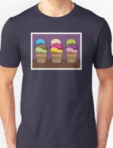 Ice Cream Flavors Unisex T-Shirt