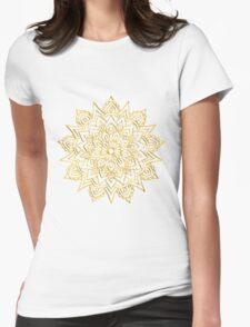 Golden Mandala Womens Fitted T-Shirt