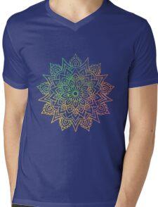 Mandala watercolor Mens V-Neck T-Shirt