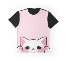 White cat face Graphic T-Shirt