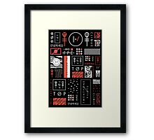 Icons For Teenagers Framed Print