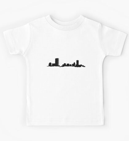 Boston Black Skyline Kids Tee