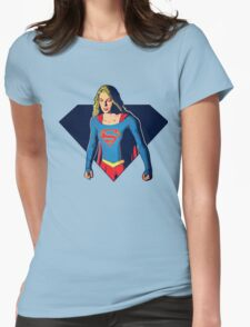 SUPERGIRL Womens Fitted T-Shirt
