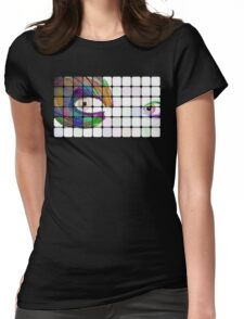 Peacock Eyes Womens Fitted T-Shirt