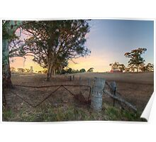Farmland, Old Princess Hwy, Adelaide Hills Poster