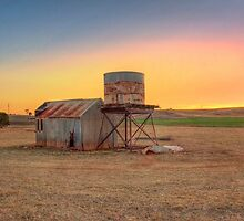 Sunset on Farmland, Kanmantoo, Adelaide Hills by Mark Richards