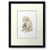 Sloth With Flower Framed Print