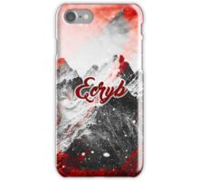 Red E-Mountain iPhone Case/Skin