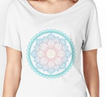 Lotus Om Mandala Illustration Women's Relaxed Fit T-Shirt