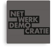 net werk demo cratie Canvas Print